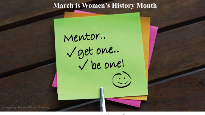 Monday Morning Minute – Women's History Month: Mentors